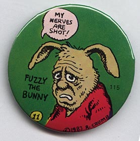 Button 115: Fuzzy the Bunny (# 11 of 11 in Crumb series)