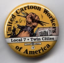 Button 157: United Cartoon Workers of America: Local 7, Twin Cities