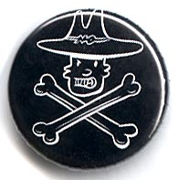 Button 184: Steven [Skull & Crossbones] by Doug Allen