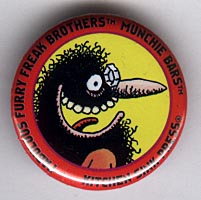 Button 203: Freak Brothers Munchie Bars [Red Phineas] Shelton / Mavrides art