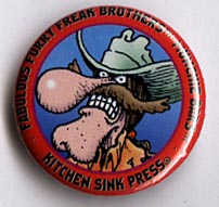 Button 206: Freak Brothers Munchie Bars [Red Freewheelin' Frank]