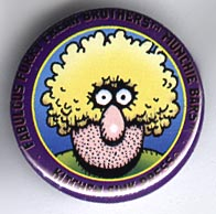 Button 207: Freak Brothers Munchie Bars [Purple Fat Freddy] Shelton / Mavrides art