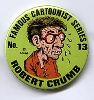 Button 058: R. Crumb variant: Famous Cartoonist Series