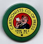 Button 059: Cartoonists Co-Op Press (Bill Griffith, 1973)