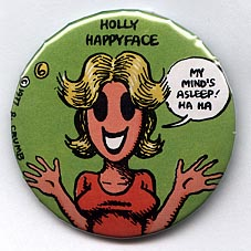 Button 084: Holly Happyface (# 6 of 11 in Crumb Series)