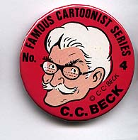 Button 004: Famous Cartoonist C. C. Beck (Captain Marvel)