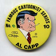 Button 010: Famous Cartoonist Al Capp (Li'l Abner / The Shmoo)