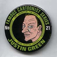 Button 021: Famous Cartoonist Justin Green (Binky Brown Meets Holy Virgin Mary)