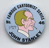 Button 046: Famous Cartoonist  John Stanley (Little Lulu, Melvin Monster)