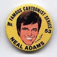 Button 053-A: Famous Cartoonist  Neal Adams (KSP #71) Batman, Green Arrow