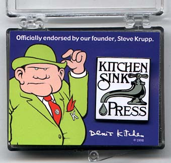 Kitchen Sink Press Faucet Pin: Square in Gift Box