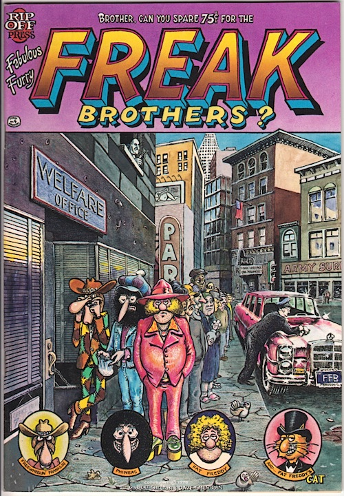 FABULOUS FURRY FREAK BROTHERS 4. Gilbert Shelton 1975 (1st printing)