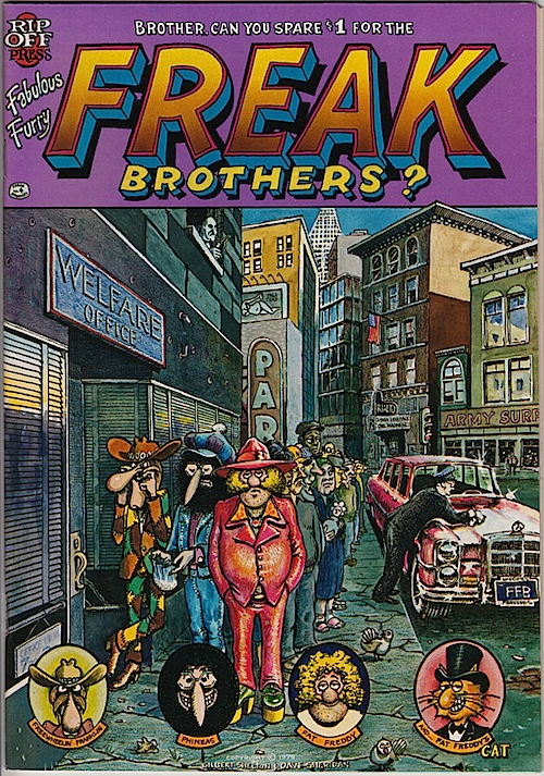 FABULOUS FURRY FREAK BROTHERS 4. Gilbert Shelton 1975 (2nd printing)