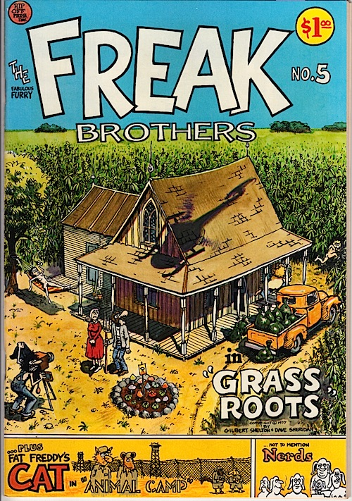 FABULOUS FURRY FREAK BROTHERS 5. Gilbert Shelton 1977 (2nd printing)