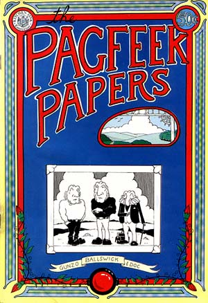 Pagfeek Papers Comix Book by Mark Morrison (1973)