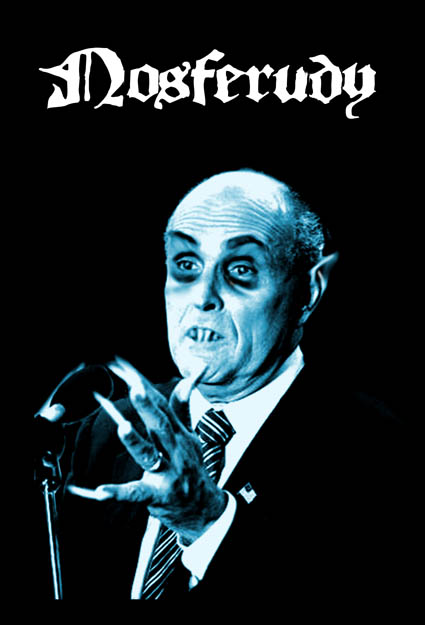 Rudy Giuliani as Nasfaratu in Nosferudy Postcard