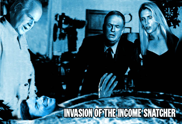 Limbaugh, Coulter, O'Reilly: Invasion of the Income Snatcher