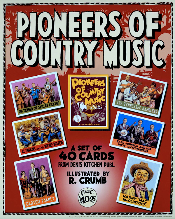 Pioneer's of Country Music Promo Poster by R. Crumb