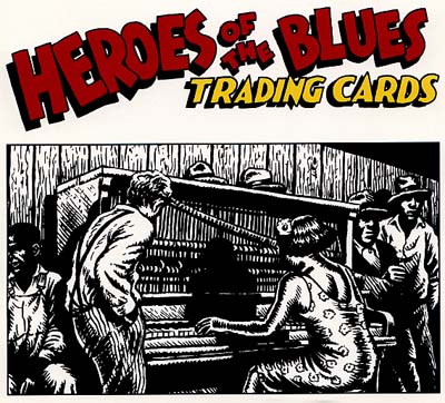 Heroes of the Blues Promo Sign by R. Crumb