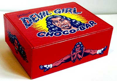 Devil Girl Choco Bars by R. Crumb - Empty Box