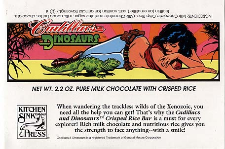 Cadillacs & Dinosaurs Candy Wrappers: Hannah Dundee