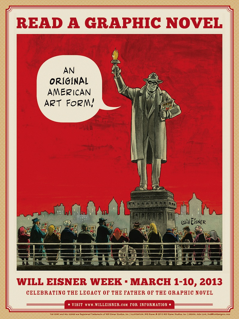 Will Eisner Week Poster (2013) Statue of Liberty