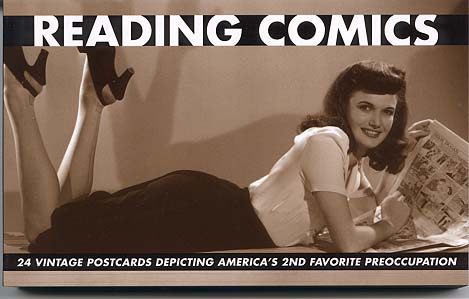 Reading Comics Vintage Photos Postcard Book by Denis Kitchen Publishing