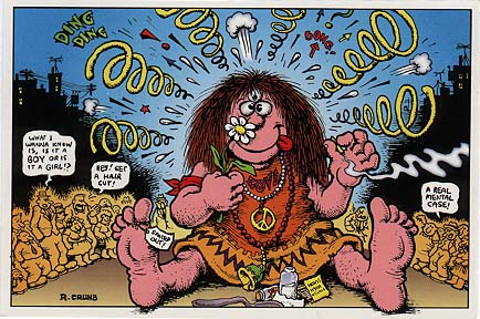 R. Crumb Postcard: Flower Child