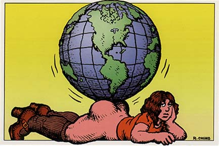 R. Crumb Postcard: Weight of the World