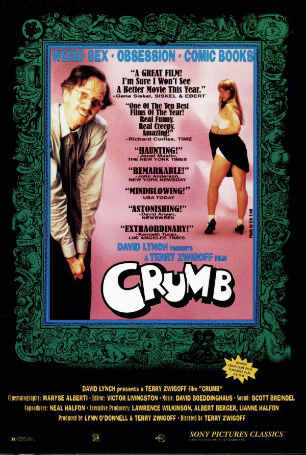ORIGINAL Terry Zwigoff CRUMB MOVIE POSTER (1995)