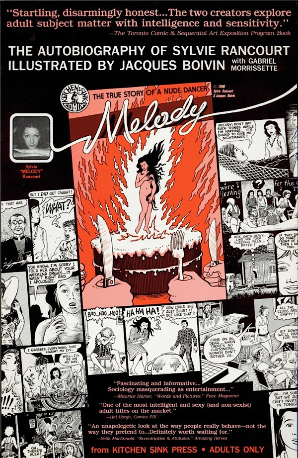 Melody Promotional Poster (1990) Comix Autobiography of a Nude Dancer