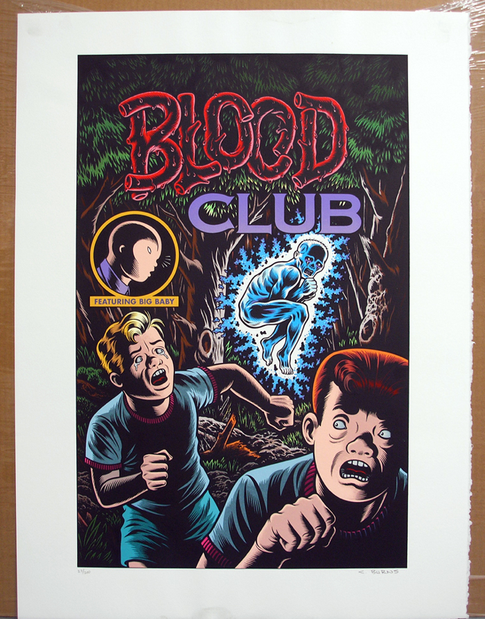 Charles Burns Serigraph: Blood Club - Signed
