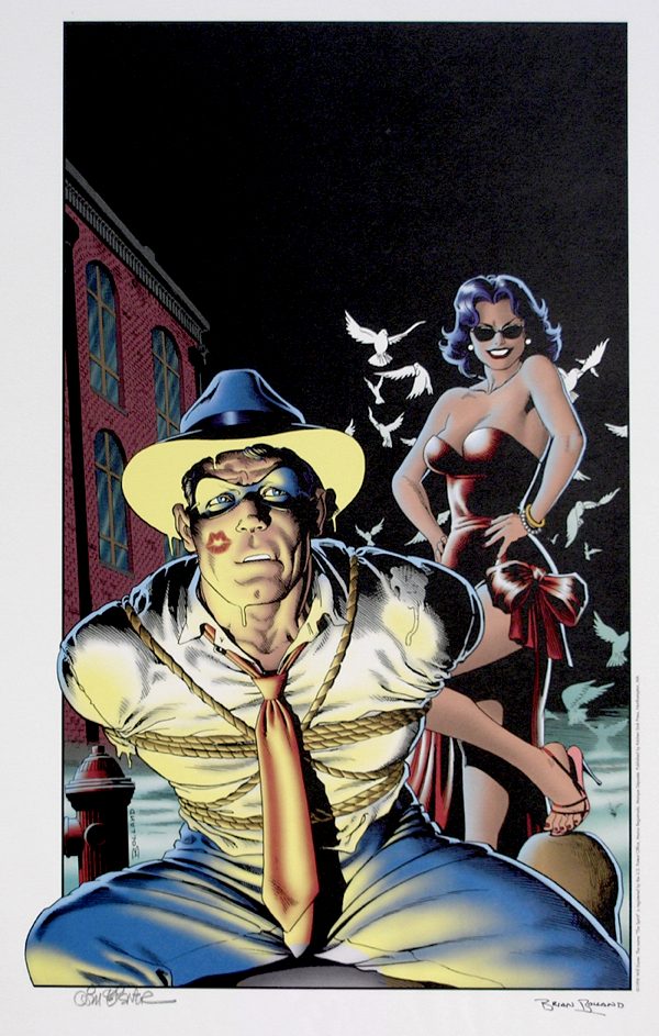 Will Eisner / Brian Bolland Print: Spirit New Adventures Cover # 3 - Signed