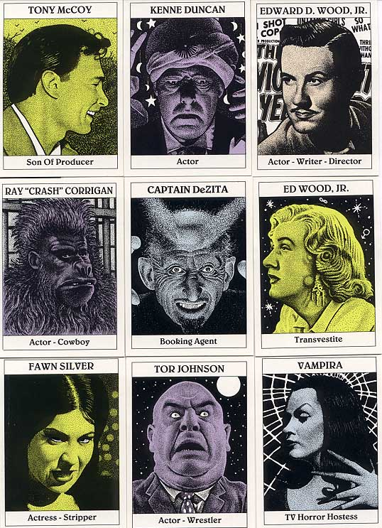 Ed Wood, Jr. Card Set NO Box