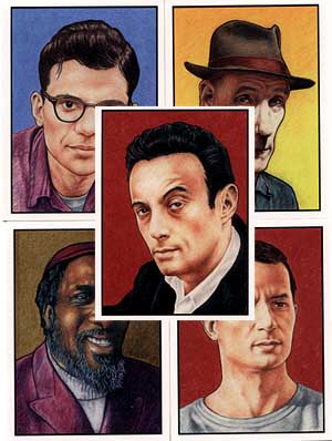Beat Generation Promo Cards by Jesse Crumb
