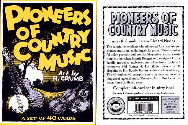 Pioneers of Country Music Trading Cards by R. Crumb - DKP