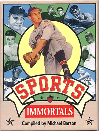 Sports Immortals Boxed Trading Card Set