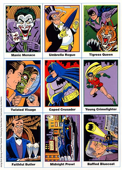 Batman Ultra RARE 9 Card Set Uncut Sheet (1991)