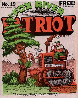 Fox River Patriot No. 19 (Aug-Sep 1977) R. Crumb Cover