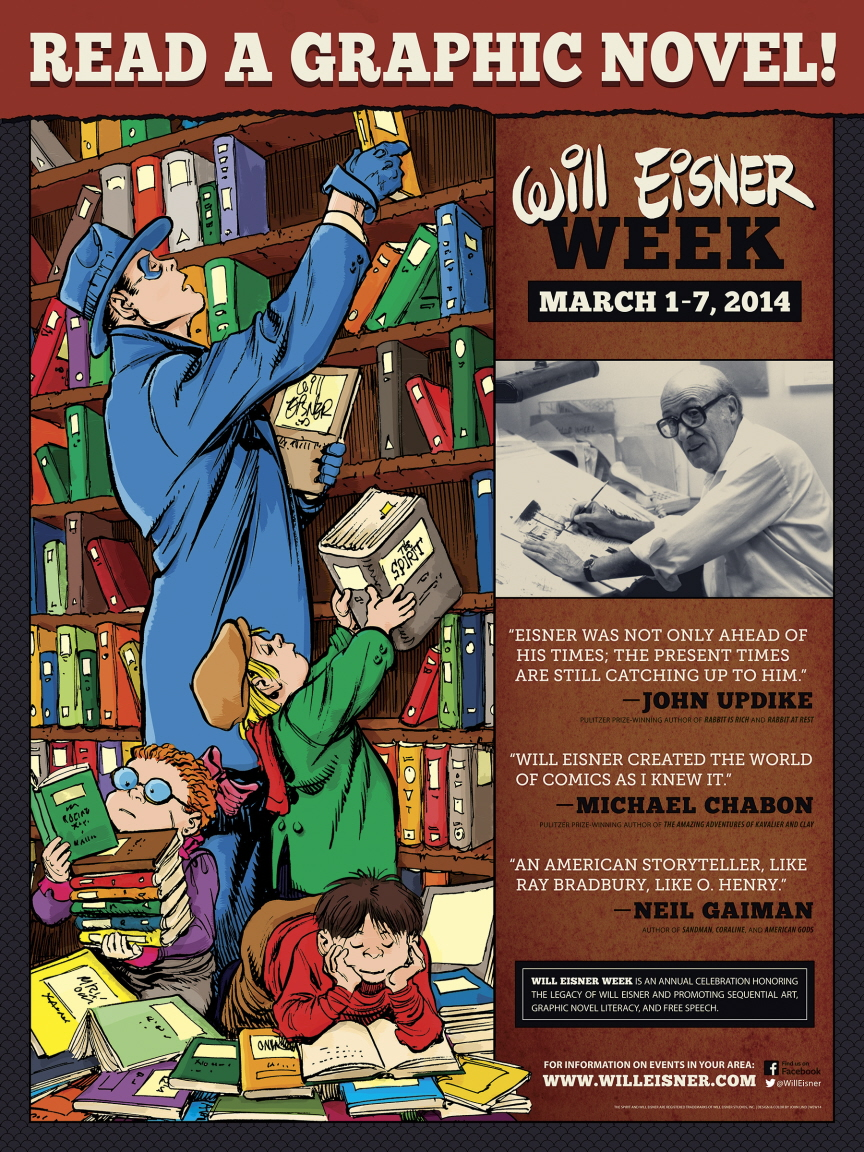 Will Eisner Week Poster (2014) Library