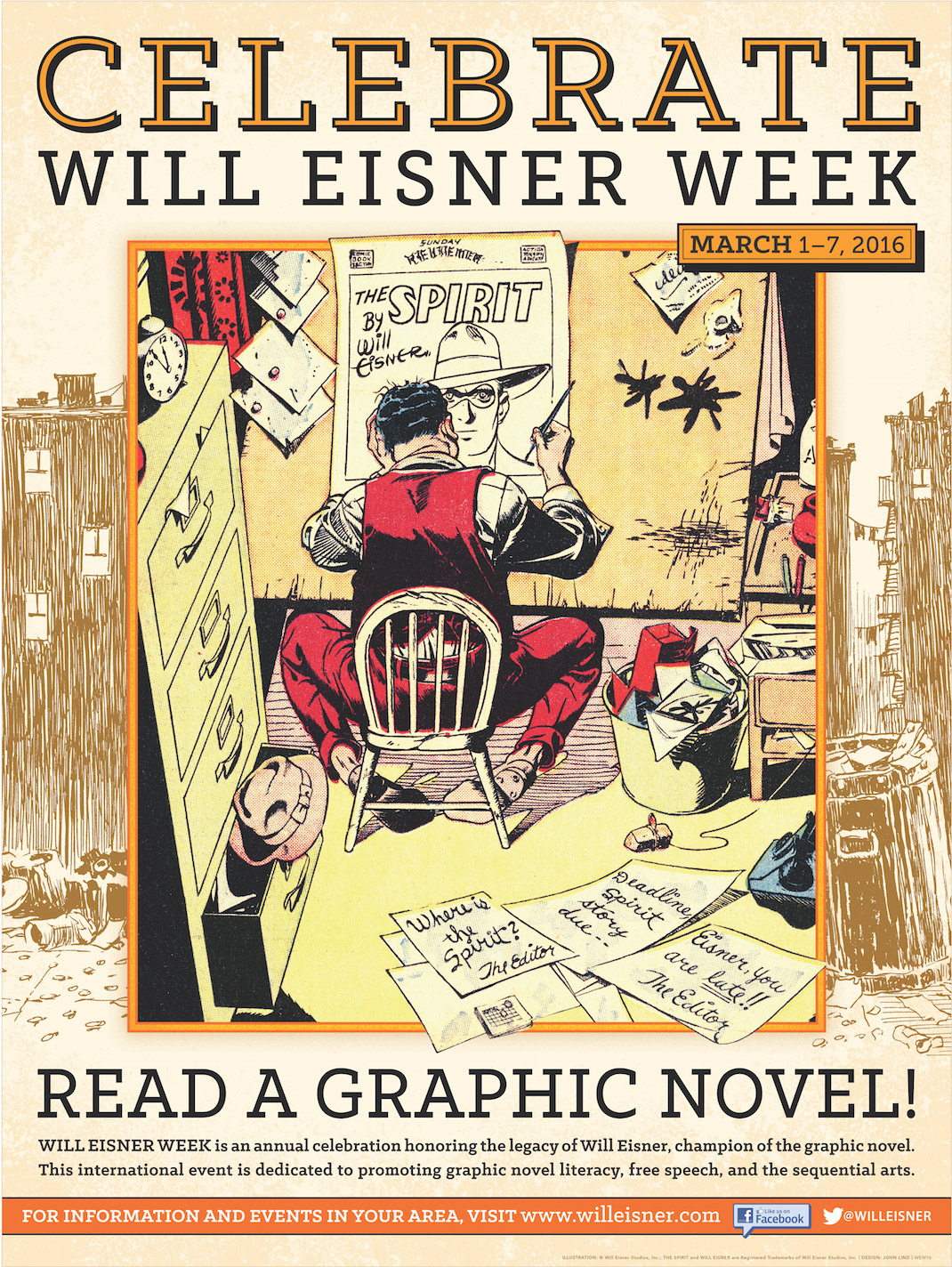 Will Eisner Week Poster (2016) Drawing Board