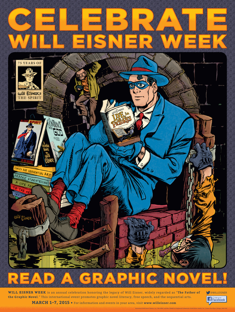 Will Eisner Week Poster (2015) 75th Aniv of The Spirit