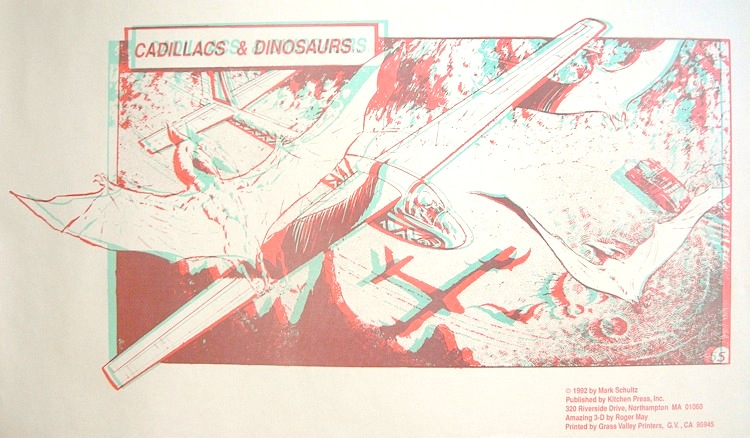 Xenozoic 3-D Poster by Mark Schultz