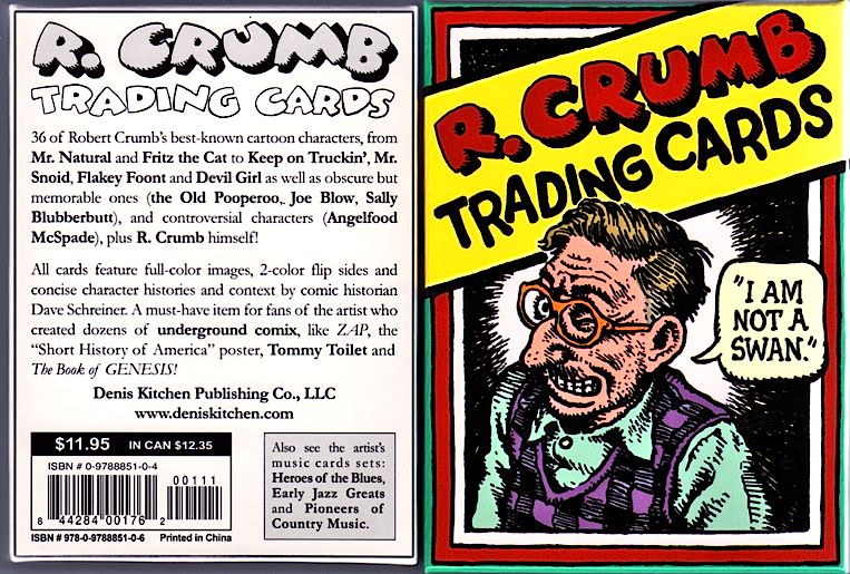 R. Crumb 36 Character Trading Cards Boxed Set 2010 DKP