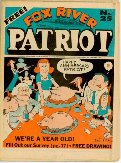 Fox River Patriot No. 25 (Nov-Dec 1977) Kitchen Cover