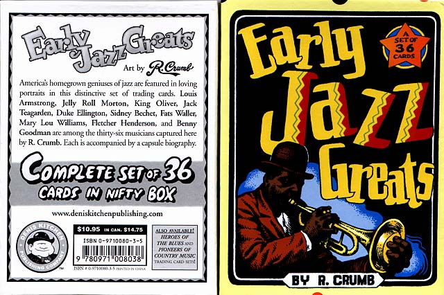 Early Jazz Greats Boxed Trading Card Set by R. Crumb - DKP