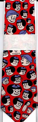 Nancy and Sluggo Silk Necktie - Red (Bushmiller)
